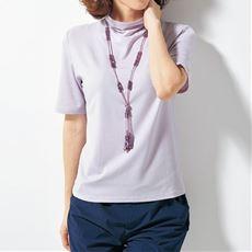 テンセルボトルネック5分袖Tシャツ(日本製)(S~4L)