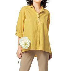 麻綿ロングシャツ(接触冷感)