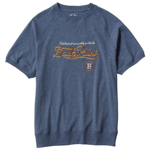 綿100%刺繍使いTシャツ。ラグランスリーブ&ガセット仕様のこだわりデザイン