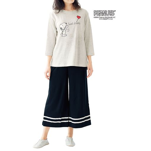 7分袖のゆったりパジャマ(SNOOPY)