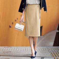 きちんと見え楽ちんラップ風スカート