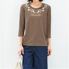 プリント7分袖Tシャツ(S~5L)