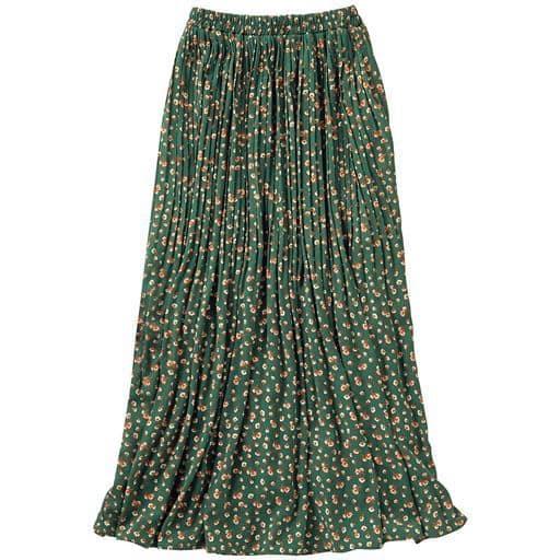 小花柄プリーツスカート