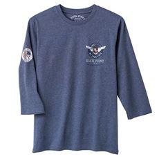 綿100%プリントTシャツ(7分袖)