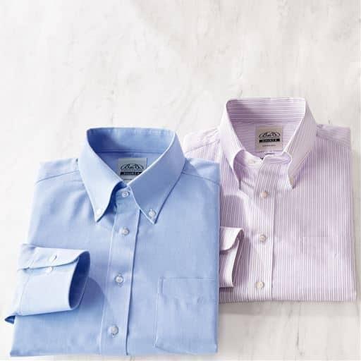 綿100%播州織り形態安定Yシャツ