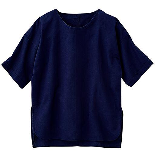 【大きいサイズ プランプ】さらりと軽やかな肌ざわりが心地よい麻混素材は季節の変り目に大活躍!着るほどに柔らかく肌になじんでいく風合いを楽しんで!