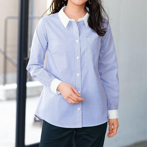 【大きいサイズ プランプ】PLUMPのオフィススタイル-着心地のよさにこだわった技ありシャツ☆グラマーさん用サイズもご用意!形態安定レギュラーシャツ