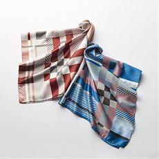 FATTORSETAチェック柄スカーフ