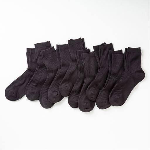ファミリーソックス・同色10足組(家族ではける定番靴下 21cm~27cm)(ロークルー丈)
