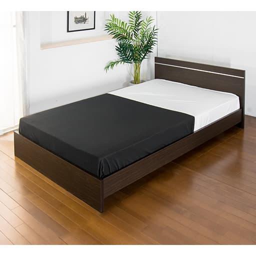 パネル型ラインデザインベッド(ボンネルマット)