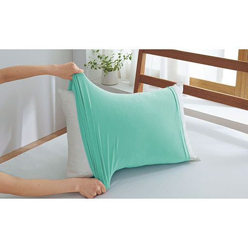 のびのび枕カバー(筒型・Tシャツ素材)