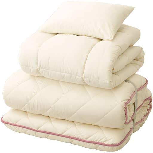 厚さが選べる羊毛混布団セット
