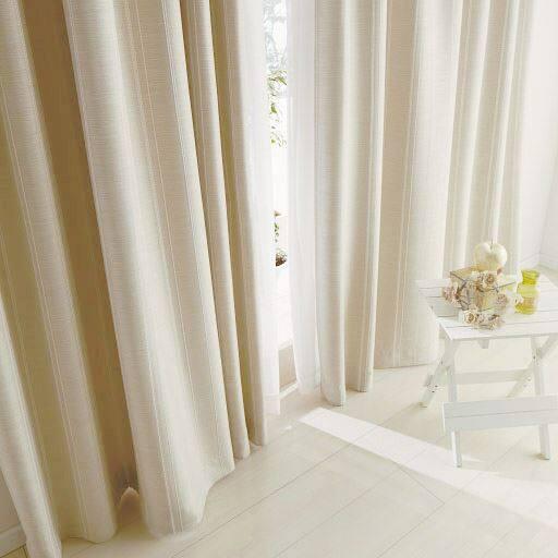 防炎風通織遮光カーテン