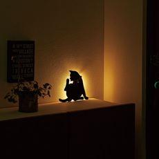 光る猫 キャットウォールライト
