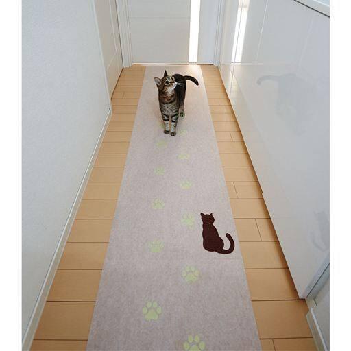 猫の足あと 蓄光廊下敷き