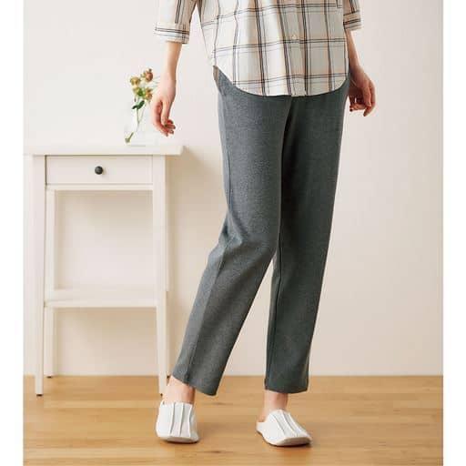 適度なゆとりで人気の綿100%長パンツ(無地・ルームパンツ)