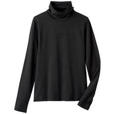 防風指穴付きハイネックTシャツ(防風・速乾・透湿)