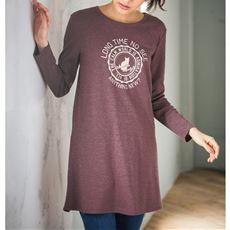 プリントチュニックTシャツ(長袖)