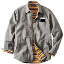 綿100%二重織りシャツジャケット