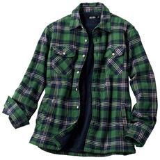 裏ボア仕様フランネルシャツジャケット・うれしい4ポケットデザイン