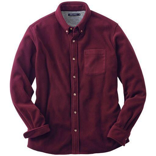フリース素材のベーシック・ボタンダウンシャツ