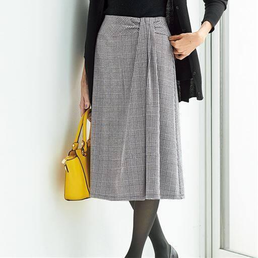 フロントタック使いスカート(選べる2レングス)
