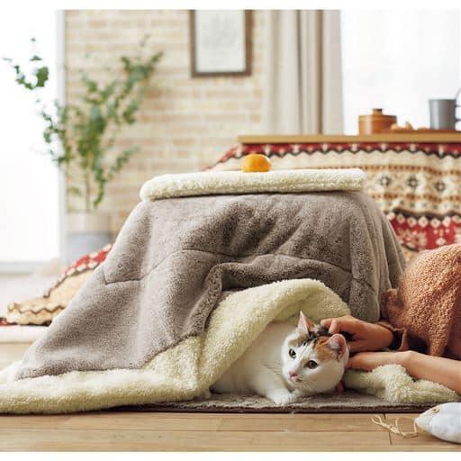 ねこたつクッション 【猫専用こたつ】【癒し】【あったか気持ちいい】【毛が引っ掛かりにくい】【洗える】