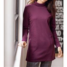 裏起毛ルーズネックTシャツ(S~5L・綿100%)