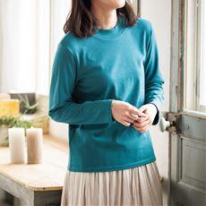 あったかシンプルハイネックTシャツ(S~5L・綿100%)