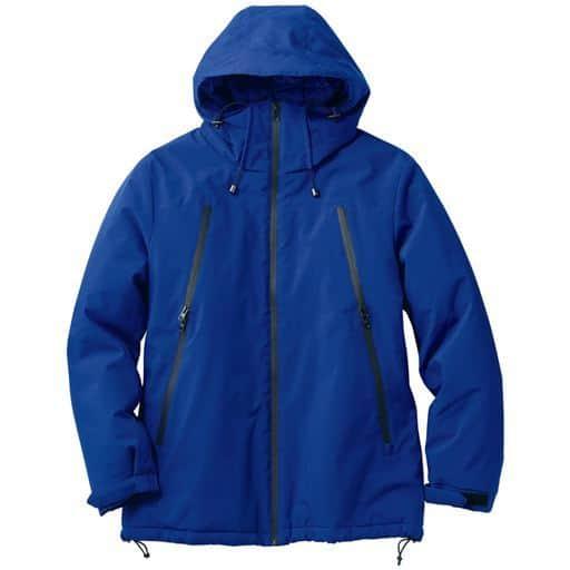 【コレ、ホント、便利。】印象的な止水風ファスナー使いビッグポケットが機能性◎!!軽くて保温性の高い中綿も◎!!