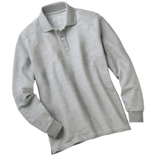 抗菌防臭・吸汗速乾・UVカット機能付き長袖ポロシャツ(嬉しいS~7L展開) 快適さを追求したニューベーシック。