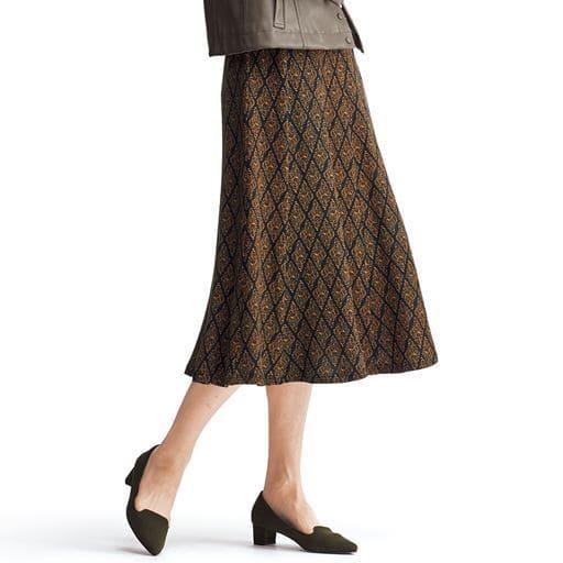 ウエストらくらくフレアスカート