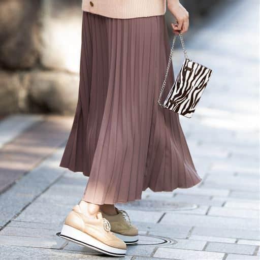 ロングプリーツスカート