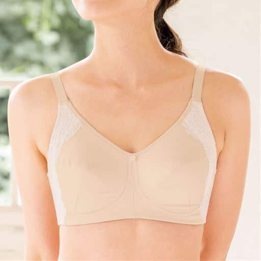 【大きいサイズ プランプ】セシールおすすめのフルカップブラジャー(Tシャツみたいなブラ®)(ワイヤーなし)。ブラジャーの「かゆい」「痛い」を解決!肌ざわりのやさしい綿混素材にこだわったブラ!