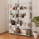 奥行選べる木製棚突っ張りスチール書棚の小イメージ
