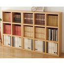 分厚い棚板のスクエアラック ■カラー:ナチュラル ■サイズ:B(幅110)の商品画像