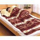 ぽかぽか暖かすっぽり毛布 シングル ■カラー:ネイビー A(色違い2色組)の小イメージ