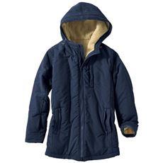 蓄熱中綿使い多ポケット手ぶらコート(SS~3L・撥水・手洗いOK)