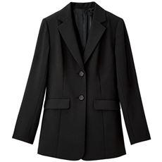 【ぽっちゃりさんサイズ】テーラードジャケット(吸汗速乾・UVカット・防しわ機能・洗濯機OK)