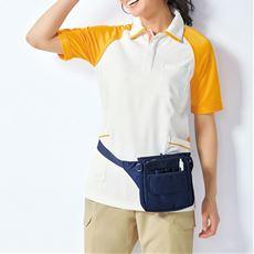 ラグラン配色半袖ポロシャツ(男女兼用・S~3L)