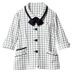 リボン付きオーバーブラウス(7分袖)(洗濯機OK・接触冷感・吸汗速乾・CoolBestⅡ)