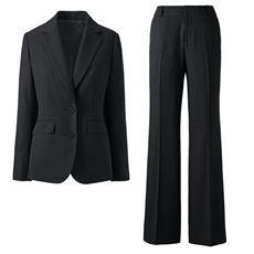 シルエットが選べるパンツスーツ(ブーツカットパンツ・ストレートパンツ・洗濯機OK)