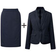 スカートスーツ(ジャケット+スカート)(接触冷感・吸汗速乾・洗濯機OK・CoolBestⅡ)