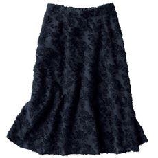 シャギージャカードスカート(選べる2レングス)