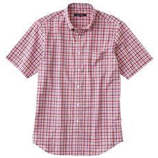 ジャストライトコットン先染め素材シャツ(半袖)