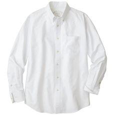 綿100%オックスフォードシャツ/ボタンダウン(長袖)