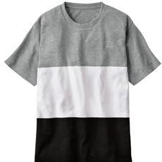 ウワサの編み続きボーダー素材Tシャツ。見た目も着心地もサワヤカン☆彡