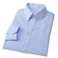 形態安定でお手入れ簡単!ネクタイをしなくてもきちんと見えるボタンダウンYシャツ(長袖)