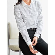 形態安定クレリックシャツ(長袖)(抗菌防臭・UVカット・洗濯機OK)