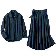 2点セット(シャツ+スカート・セットアップ・洗濯機OK)